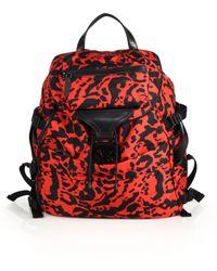 Alexander McQueen Red Printed Backpack - Lyst