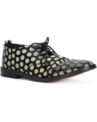 Marsell Polka Dot Lace-Up Shoes black - Lyst
