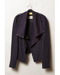 Saturday/sunday - Draped Indigo Moto Jacket - Lyst