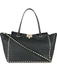 Valentino Rockstud Medium Grained Leather Tote - For Women - Lyst