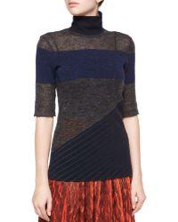 Risto - Asymmetric Panel Knit Sweater - Lyst