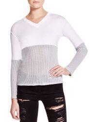 Benjamin Jay - Kessy Mixed Media Sweater - Lyst
