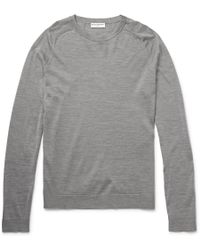 Balenciaga Wool, Silk And Cashmere-Blend Sweater - Lyst