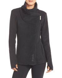 Bench 'riskrunner' Cowl Neck Fleece Jacket - Black
