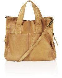 Topshop Alba Leather Hobo Bag - Lyst