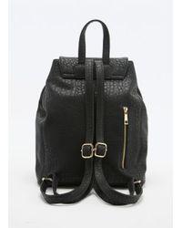 Deena & Ozzy - Hinge Lock Backpack In Black - Lyst