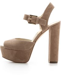 Michael by Michael Kors London Suede Sandals - Black - Lyst
