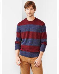 Gap Marled Stripe Crewneck Sweater - Lyst