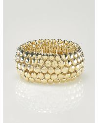 Ralph Lauren Gold-Plated Stretch Bracelet gold - Lyst