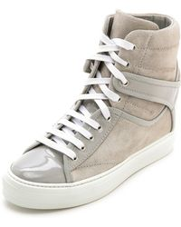 Ferragamo Nicky High Top Sneakers Plume - Lyst