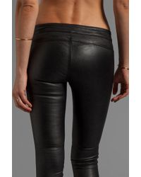Cut25 by Yigal Azrouël Stretch Leather Pant in Black