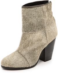 Rag & Bone Classic Newbury Haircalf Booties  Oatmeal - Lyst
