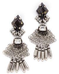 Dannijo Clea Earrings Silveritalian Nero - Lyst
