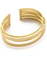 Gorjana - Downtown Layered Cuff Bracelet Gold - Lyst