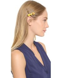 Venessa Arizaga - Emoji Bobby Pin Set - Yellow Multi - Lyst