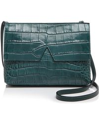 Vince Crossbody - Signature Croc-stamped Baby - Green