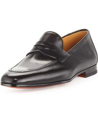 Magnanni For Neiman Marcus Apron-toe Penny Loafer - Lyst