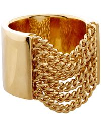 Chloé Delfine Chain Ring - Metallic