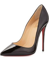 Christian Louboutin So Kate Patent Red Sole Pump red - Lyst