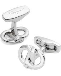 Ferragamo Interlocking Gancini Cufflinks - Lyst