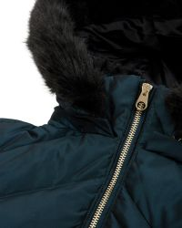 Ted Baker Holoww Quilted Down Parka - Green