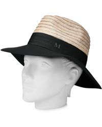 Maison Michel Charlotte Felt And Straw Hat - Lyst