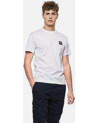 Stone Island - T-Shirt Con Logo - Lyst
