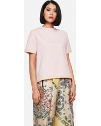 Thom Browne T-shirt With Side Slit - Pink