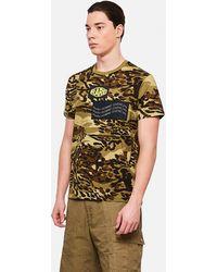Givenchy T-shirt Camouflage Rare Spirit - Verde