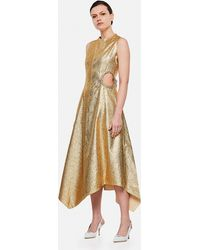 JW Anderson Dress With Gems - Metallic