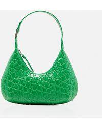 BY FAR Hobo Baby Amber Minibag - Green
