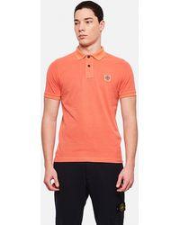 Stone Island Short Sleeve Polo Shirt - Orange