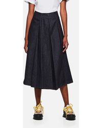 Moncler Cotton Midi Skirt - White