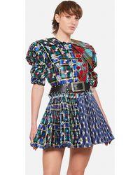 Chopova Lowena - Taffetà Mini Dress With Belt - Lyst