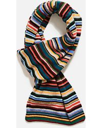 PS by Paul Smith Striped Scarf - Yellow