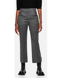 Fendi Tailored Cropped Pants - Gray