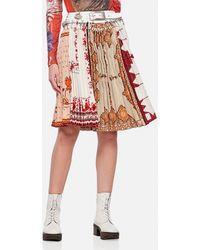 Chopova Lowena Tablecloth Cotton Skirt - White