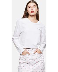 Calvin Klein Maglietta A Maniche Lunghe - Bianco