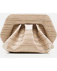 THEMOIRÈ Faux Leather Clutch - Brown