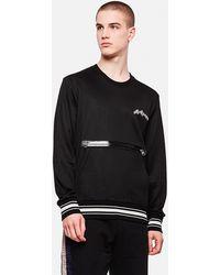 Alexander McQueen Sweatshirt With Zip - Gray