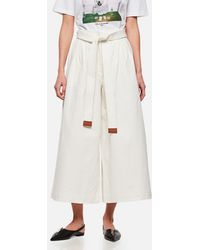 Loewe Cropped Jeans With Denim Belt - White
