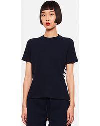 Thom Browne Cotton Piqué T-shirt - Blue