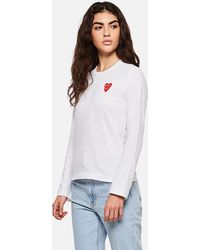 COMME DES GARÇONS PLAY - T-shirt With Hearts - Lyst
