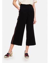Gucci - Pantalone Culotte In Viscosa Con Motivo Web - Lyst