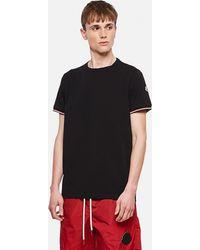 Moncler T-shirt in cotone elasticizzato - Nero