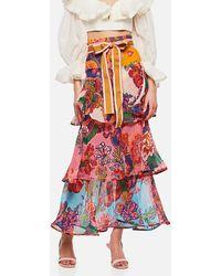 Zimmermann 'the Lovestruck Flounce' Skirt - Red