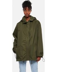 Loewe Short Cotton Parka With Hood - Green
