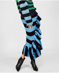 KENZO - Striped Skirt With Ruffles - Lyst