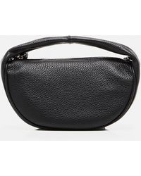 BY FAR Cush Hammered Leather Bag - Black