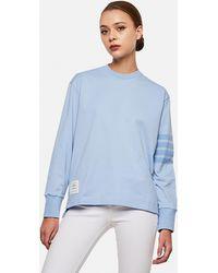 Thom Browne Crewneck Sweatshirt - Blue